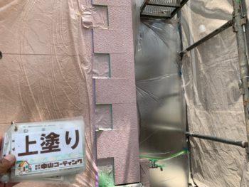 徳島県 小松島市 外壁 塗装 アクセント 上塗り クリヤー