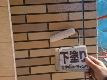 徳島県 名東町 外壁 塗装 サイディング 下塗り