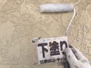 徳島県 丈六町 外壁 塗装 下塗り