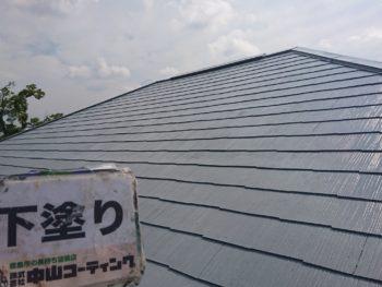 徳島県 上板町 屋根 塗装後 下塗り