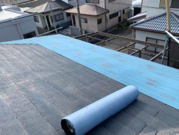 徳島県 藍住町 屋根 板金工事 ルーフィング
