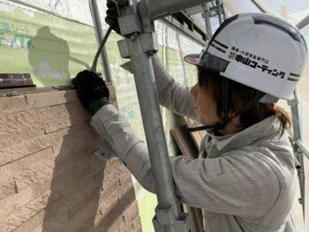 徳島県 川内町 手すり壁 板金工事 サイディング 撤去