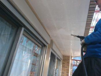徳島県 名東町 高圧洗浄 付帯部 軒天井