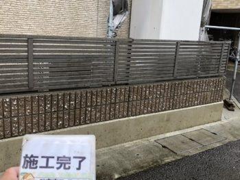 徳島県 鮎喰町 洗浄 塀