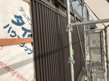 徳島県 川内町 手すり壁 板金工事 ガルバリウム鋼板