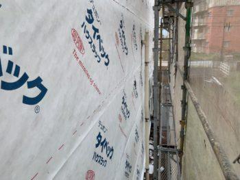 徳島県 松茂町 外壁 張り替え 防水シート