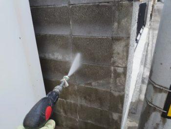 徳島県 末広町 洗浄 塀