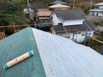 徳島県 名東町 屋根 板金工事 ルーフィング