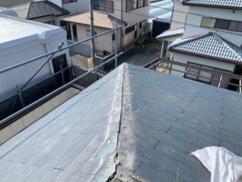 徳島県 藍住町 屋根 板金工事 棟板金 撤去