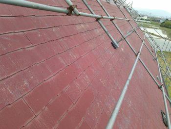 徳島県 阿南市 教会 屋根 塗装後 下塗り