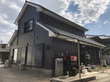 【外壁塗装マットブラック】施工例 徳島市八万町