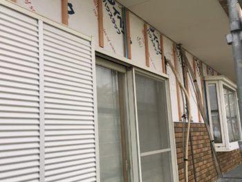 徳島県 上板町 板金工事 壁面 サイディング 貼り付け