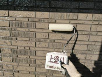 徳島 石井 外壁塗装 上塗り クリヤー