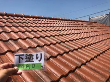 徳島県 松茂町 屋根 下塗り 塗装