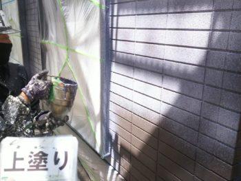 島県 南沖洲町 外壁 塗装 上塗り 1階