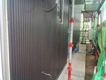徳島 藍住 外壁 板金工事 ガルバリウム鋼板