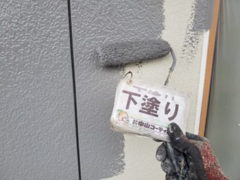 徳島県 藍住町 外壁 塗装 下塗り