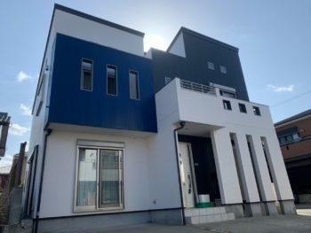 徳島市新浜本町 カラーシュミレーションのイメージで外壁と屋根塗装