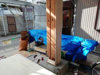 徳島県 末広町 柱 板金工事 補強