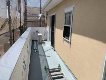 徳島県 松茂町 手すり壁 張り替え 防水シート