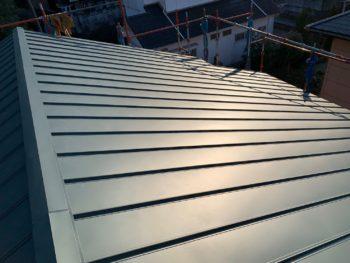 徳島県 名東町 施工後 屋根 ガルバリウム鋼板