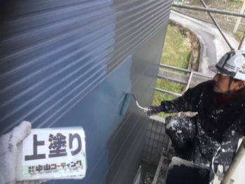 徳島県 阿南市 長生町 外壁塗装 1階 上塗り
