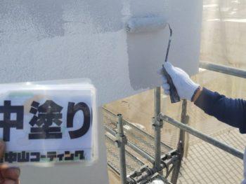 徳島県 南昭和町 外壁塗装 中塗り