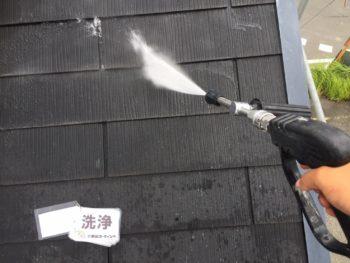 徳島県 新浜本町 高圧洗浄 屋根 苔