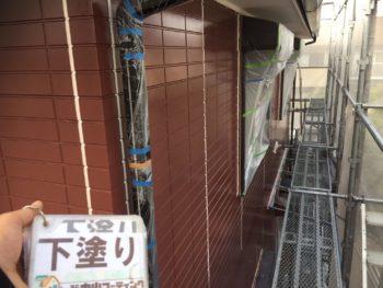 徳島県 南沖洲町 外壁 塗装後 下塗り