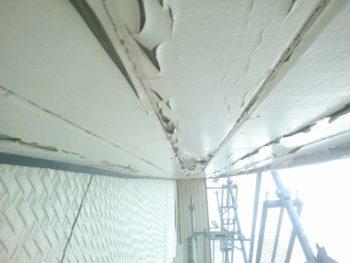 徳島県 阿南市 教会 施工前 軒天井 塗膜 劣化