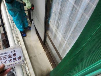 徳島県 藍住町 洗浄 ベランダ 汚れ