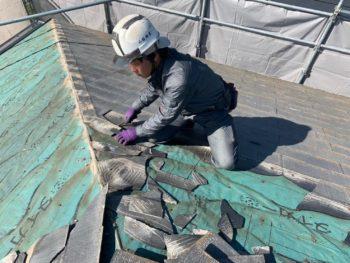 徳島県 川内町 屋根 瓦 撤去 板金工事