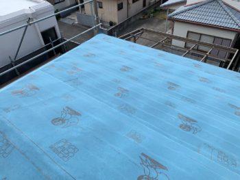徳島県 藍住町 屋根 ルーフィング 板金工事