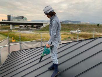 徳島県 川内町 屋根 板金工事 ガルバリウム鋼板 施工後
