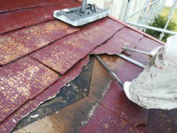 徳島県 阿南市 教会 大工工事 屋根 スレート瓦 撤去