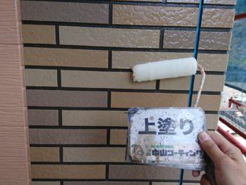 徳島県 名東町 外壁 塗装 サイディング 上塗り