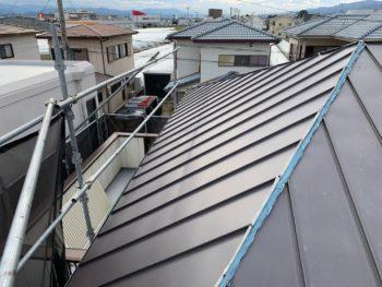 徳島県 藍住町 屋根 板金工事 ガルバリウム鋼 施工後