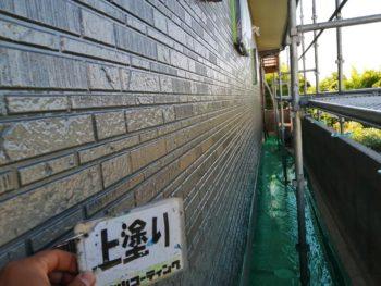 徳島 石井 外壁塗装後 上塗り
