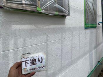 徳島県 小松島市 外壁 塗装後 下塗り