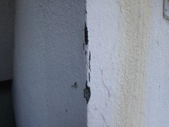 徳島県 南昭和町 施工前 マンション 壁面 クラック
