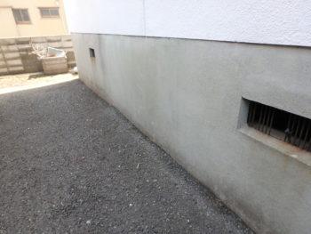 徳島県 南昭和町 施工前 マンション 立ち上がり 汚れ