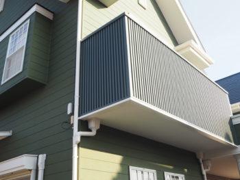 徳島県 大麻町 施工後 手すり壁 ガルバリウム鋼板