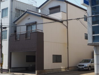 徳島市南昭和町 三階建ての外壁を無機塗装で長期的に家を守る