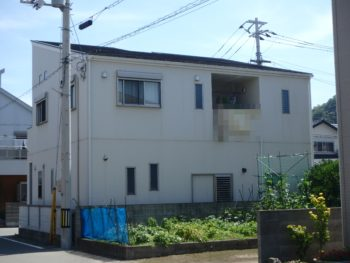 徳島県 新浜本町 施工前 裏面 全体