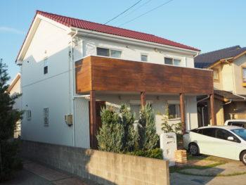 板野郡松茂町 外壁張り&屋根塗装 エイジング塗装 施工事例