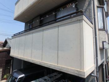 徳島県 末広町 施工前 手すり壁 クラック
