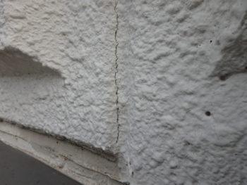徳島県 城南町 施行前 壁面 クラック