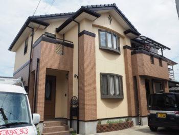 【オシャレな色合い外壁塗装】徳島市矢三町M様邸 施工例