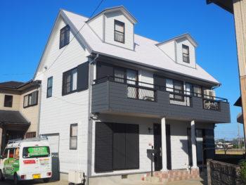 【暑い二階には断熱塗料】 板野郡藍住町 外壁屋根塗替え