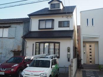 徳島市田宮 富士スレート瓦塗装 外壁塗装 施工例